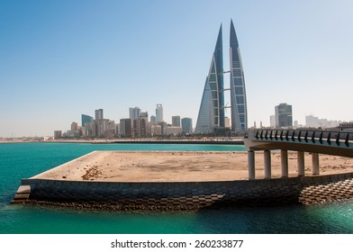 View of financial district of Manamah, Bahrain.