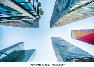 Up view in financial districtg,
