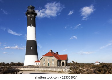 View of the Fire Island Lighthouse. Fire Island, Long Island, New york.