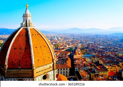 View of Firenze: This picture was taken in December 2013. The chroma is accentuated.