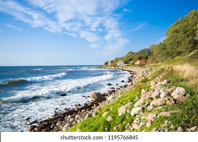 View of fishing hamlet on west coast of Bornholm island - Helligpeder, Denmark