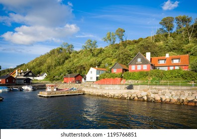 View of fishing hamlet on west coast of Bornholm island - Teglkas, Denmark