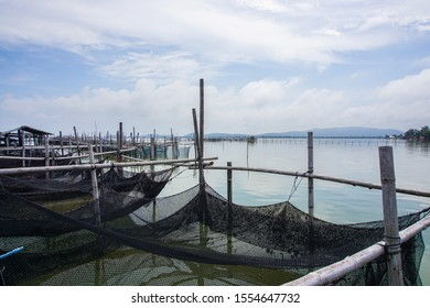 View of fishing village in thailand