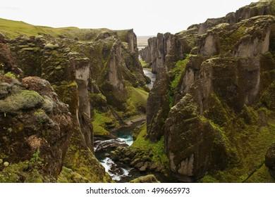 View of Fjadrargljufur Canyon, Iceland