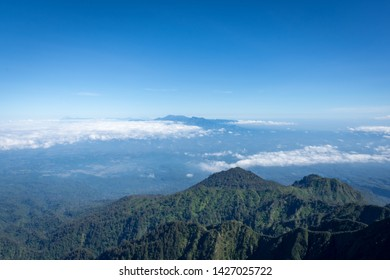 A view from Flag Peak or 'Puncak Bendera' (3,140m).