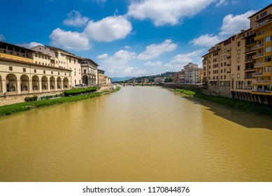 View of Florence and Arno river from Ponte Vecchio