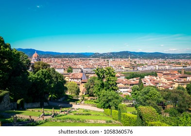 View at Florence from Bardini Gardens