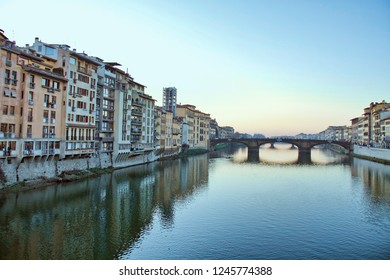 View of  Florence in winter, Italy