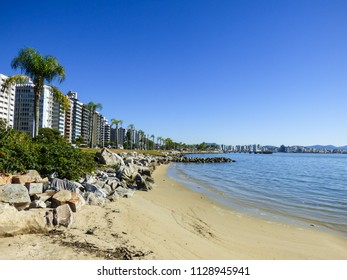A view from Florianopolis' bay - cityscape in the background (Florianopolis, Brazil)