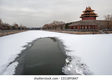 View of Forbidden City in Beijing - China