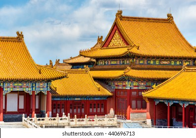View of the Forbidden City in Beijing, China