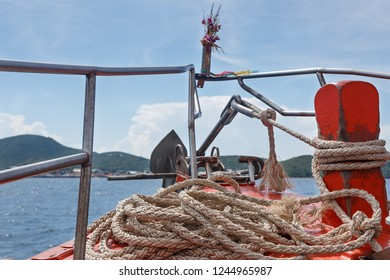 view from  the fore ferry boat in thailand