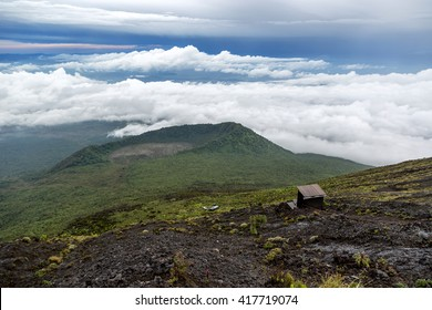 The view of the forest of the Democratic Republic of Congo from the top of the Nyiragongo vulcano, near Goma.