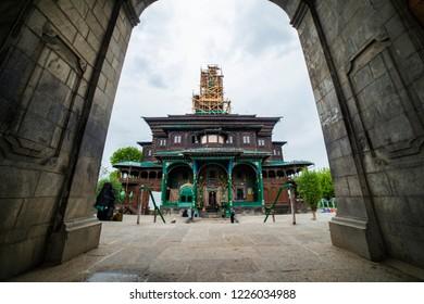 A view form the main gate of Masjid Shah-e-Hamdan shrine in old city of Srinagar.