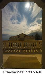 View form Monte Castello to Lake Garda Italy
