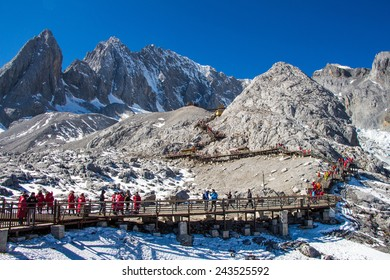 view form top of Jade Dragon Snow Mountain
