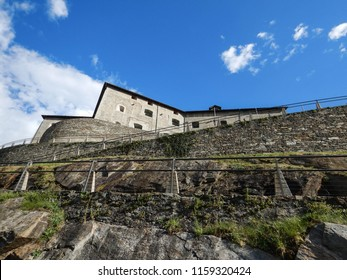 View of Fort Bard, Aosta Valley - Italy