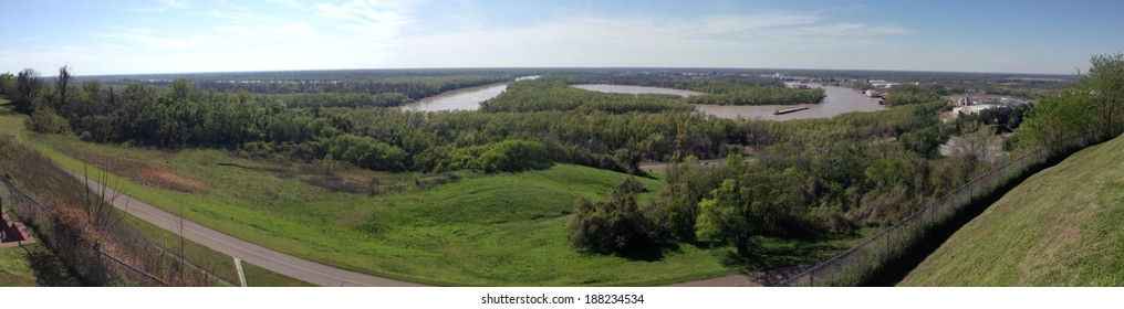 View from Fort Hill in Vicksburg National Military Park, Mississippi