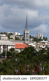 The view of Fort-de-France, Martinique Island - Lesser Antilles, French overseas territory.