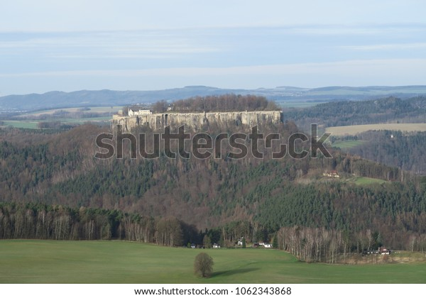 a view to the fortress Königstein