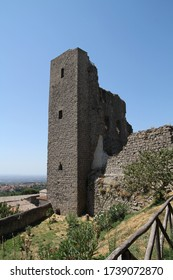 view of fortress of the popes in Montefiascone city ( Tuscany, Italy)