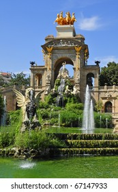 A view of Fountain of Parc de la Ciutadella, in Barcelona, Spain