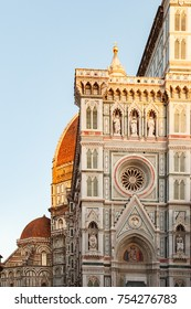 View of fragment of the Cathedral Santa Maria del Fiore in Florence, Italy