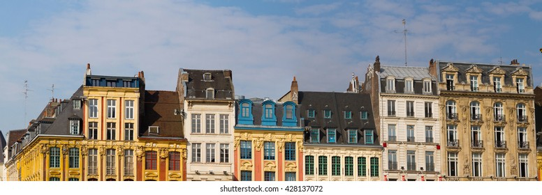 View of french city Lille at the main place