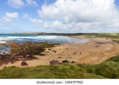 View of Freshwater West Beach, Pembrokeshire, Wales