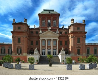 View from the front facade of the Racconigi Castle, near Turin - Italy
