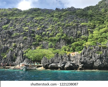 A view in front of the pier of Matinloc Shrine in Matinloc Island, El Nido Palawan Philipines. You can find it when joining the C Tour Trip starting from El Nido Beach. It was a beautiful beach...