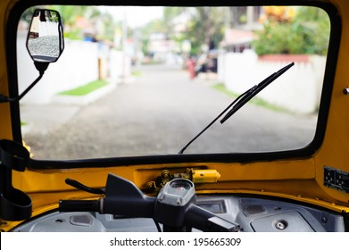 View from the front window of the tuc tuc.