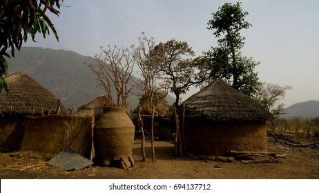 View to fulani tribe village near Tchamba, Cameroon