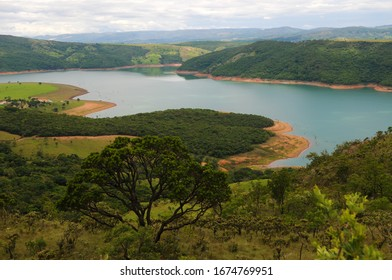 View of the Furnas lake dam in the city of Capitólio in the state of Minas Gerais.