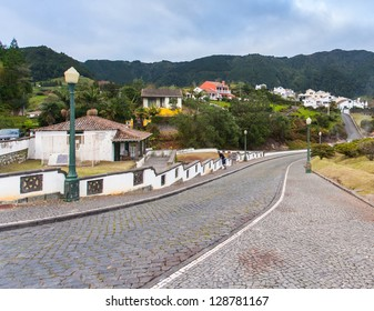 View of Furnas. A little village in the Azores, San Miguel (Sao Miguel) island