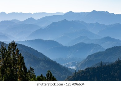 A view from Fushiogamioji observatory (Kumano Kodo pilgrimage routes), Wakayama prefecture, japan