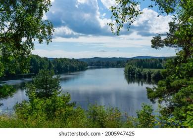 View of Älvmötet, Gagnef, Dalarna. Here the rivers Västerdalälven and Österdalälven converge into Dalälven.
