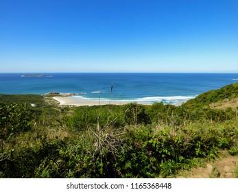 A view of Galheta beach from Boa vista hiking path - Florianopolis, Brazil