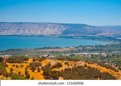 View from Galilee Mountains to Galilee Sea, Kinneret