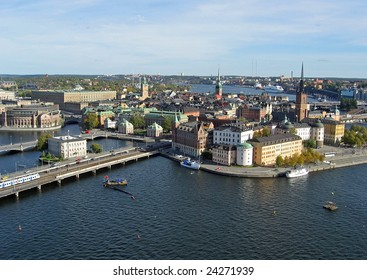 View of Gamla Stan (old center) of Stockholm, capital of Sweden.