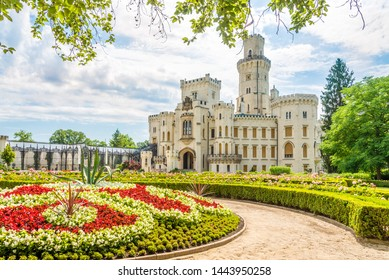 View at the Garden and Castle of Hluboka - Czech Republic