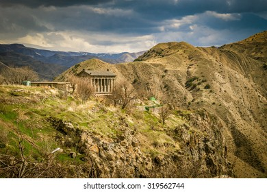 View with Garni temple, Autumn, Armenia