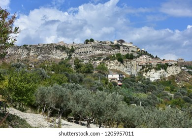 view of Gerace village in Calabria in Italy