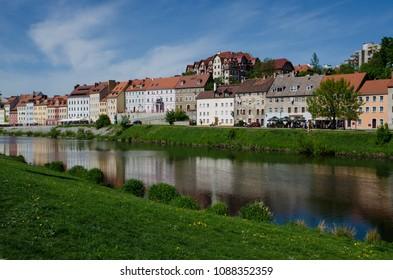 A view from Görlitz, Germany to Zgorzelec, Poland.