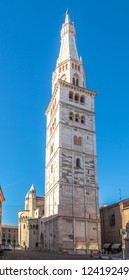 View at Ghirlandina tower in Modena, Italy