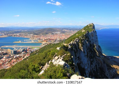 View of the Gibraltar rock from the Upper Rock