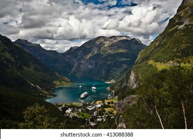 View of Gieranger fjord Norway