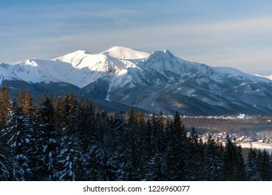 view to Giewont Mountain and Maloloczniak Mountain, Tatra Mountains, Tatra National Park, Poland