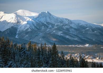 view to Giewont Mountain, Tatra Mountains, Tatra National Park, Poland