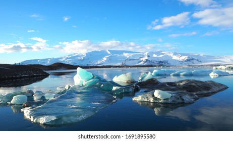 View of the Glacier Lagoon in Jokulsarlon, Iceland